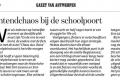 Uit GVA 2014.10.22 over het verkeer rond de school